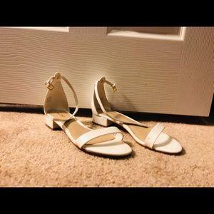 Aldo white sandals